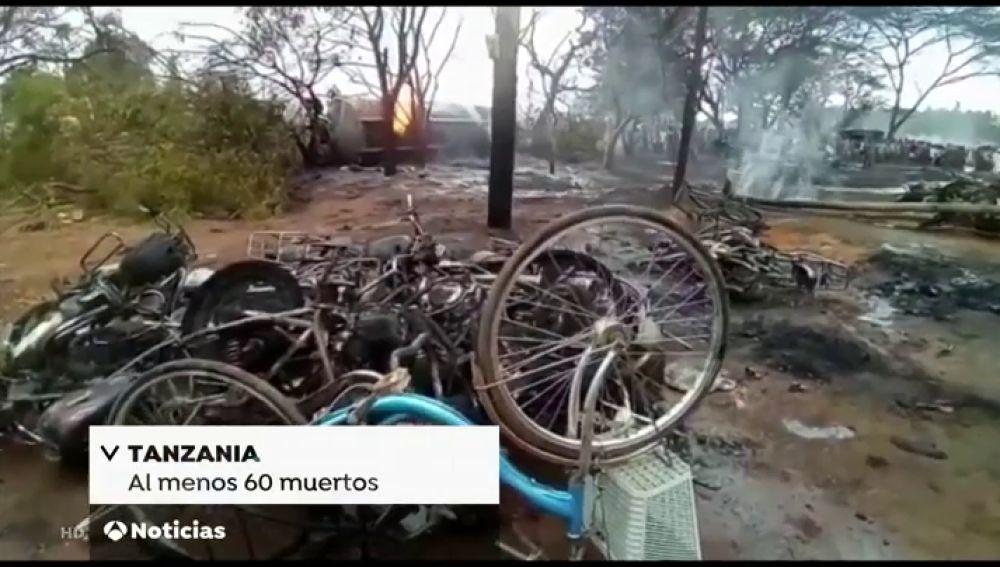 Al menos 60 muertos por la explosión de un camión que transportaba combustible en Tanzania