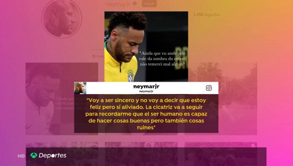"""El comunicado de Neymar tras la decisión de la Fiscalía: """"Estoy aliviado; mi mundo se derrumbó"""""""