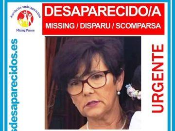Encarnación Murillo, en un cartel de la Guardia Civil alertando de su desaparición