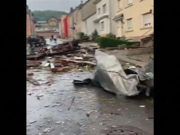 Un tornado destroza el sur de Luxemburgo y deja varios heridos