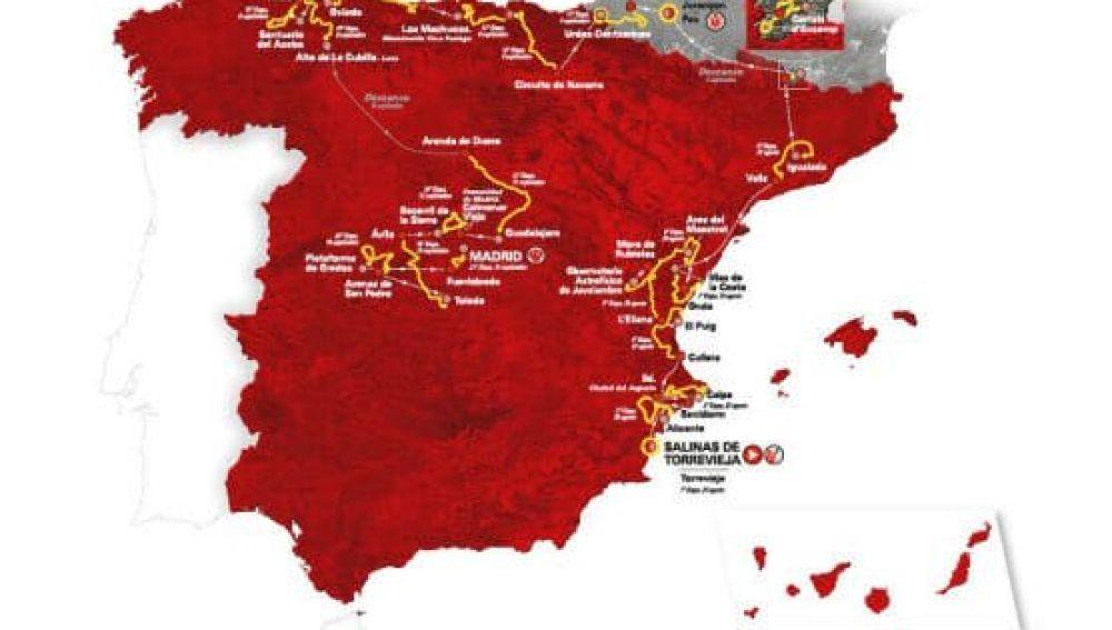 Vuelta a España 2019: Calendario, etapas, horario y recorrido