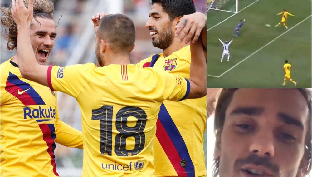 Así fue el primer gol de Griezmann con el Barcelona