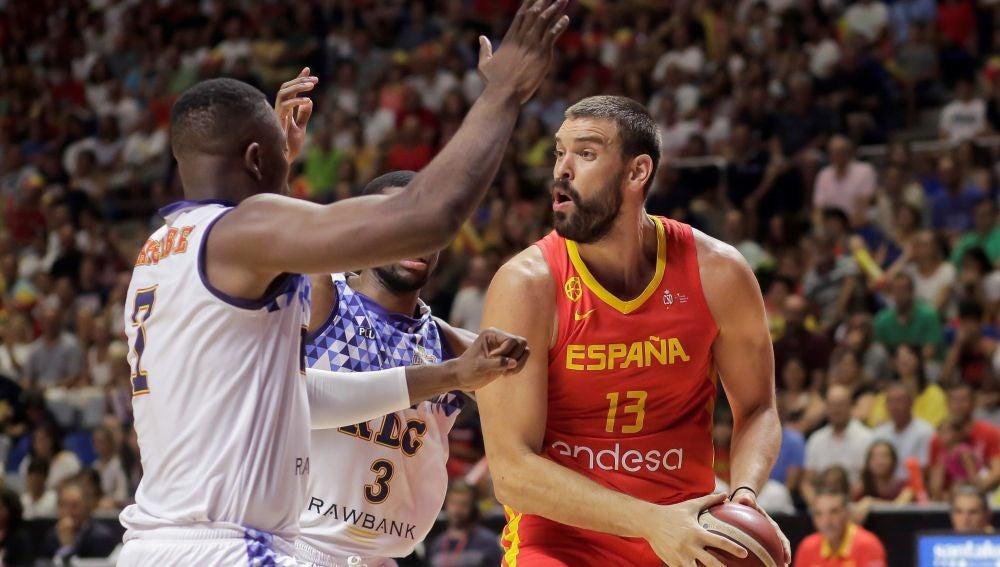 Marc Gasol lidera el ataque de la selección española ante RD Congo