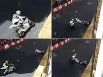 Un piloto atropella a otro en el circuito urbano de La Bañeza