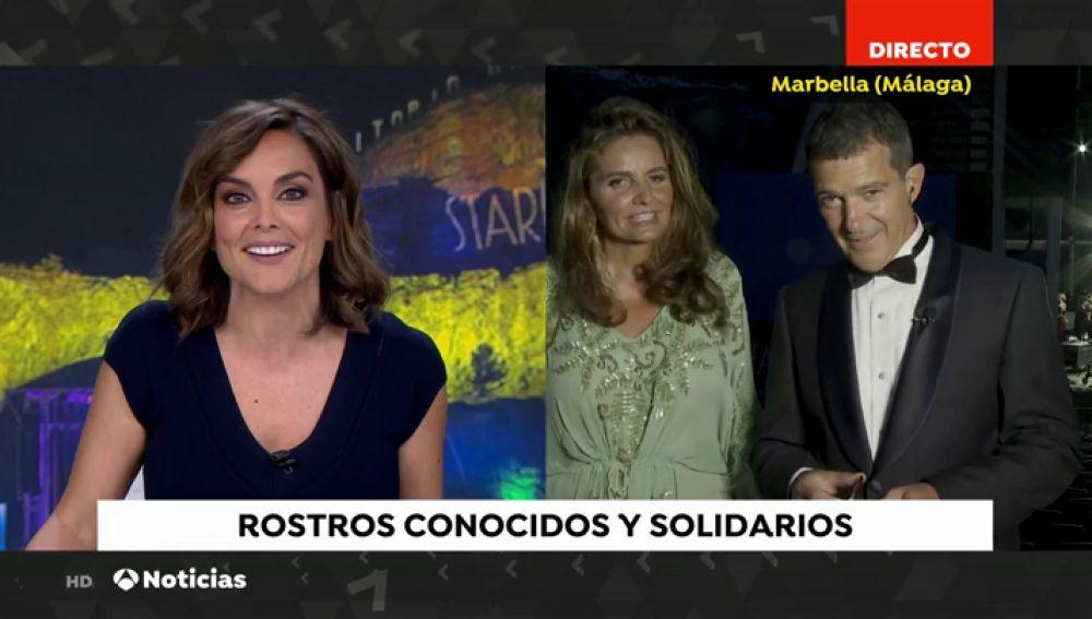 Antonio Banderas acude un año más a la gala solidaria de Starlite en Marbella