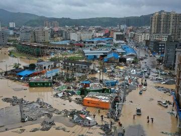 Efectos del tifón Lekima