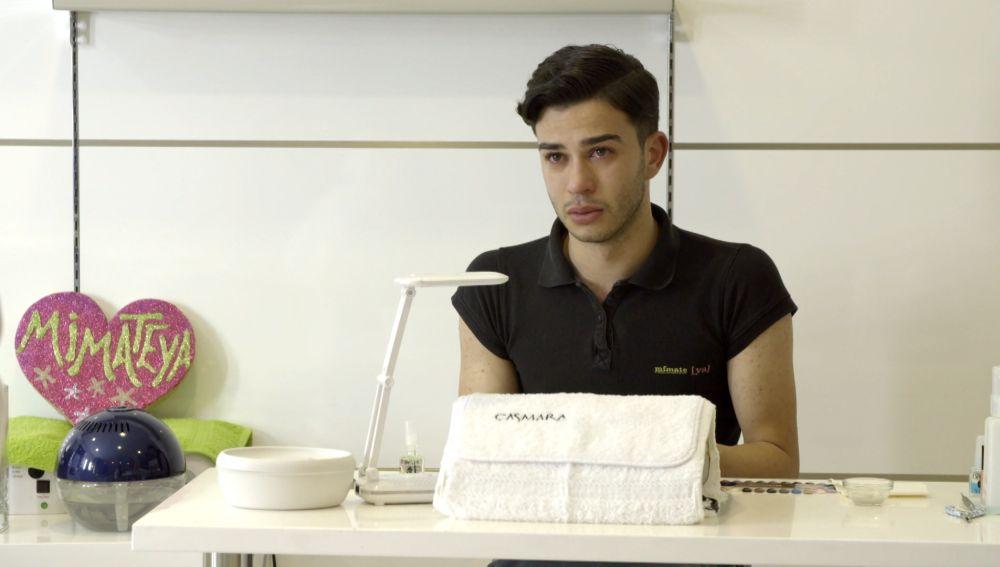 Sergio trabajando en 'El Contenedor'