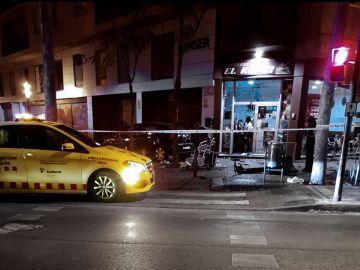 Fotografía del lugar del accidente del twitter de Unió de Mossos per la Constitució