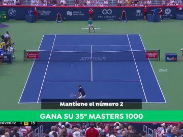 Nadal bate a Medvedev y consigue su trigésimo quinto Masters 1000