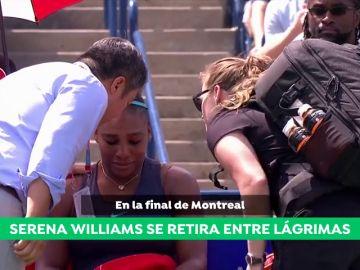 """Serena Williams, entre lágrimas al tener que retirarse de la final de Toronto: """"No me puedo mover, lo intento, pero no puedo"""""""