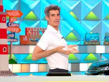 Jorge Fernández  imita el postureo de Ana Obregón en 'La ruleta de la suerte'