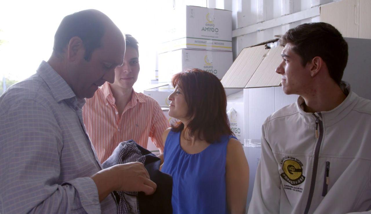 Familia en 'El Contenedor'