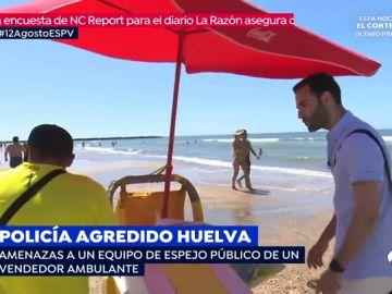 Amenazas al equipo de 'Espejo Público' de un vendedor ambulante