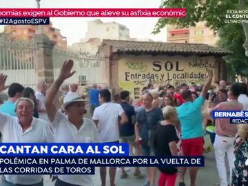 'Cara al Sol' en las corridas de toros en Mallorca