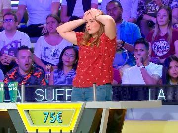 La mala suerte de Lorena en 'La ruleta de la suerte', cuando estaba a punto de ganar acababa perdiendo todo