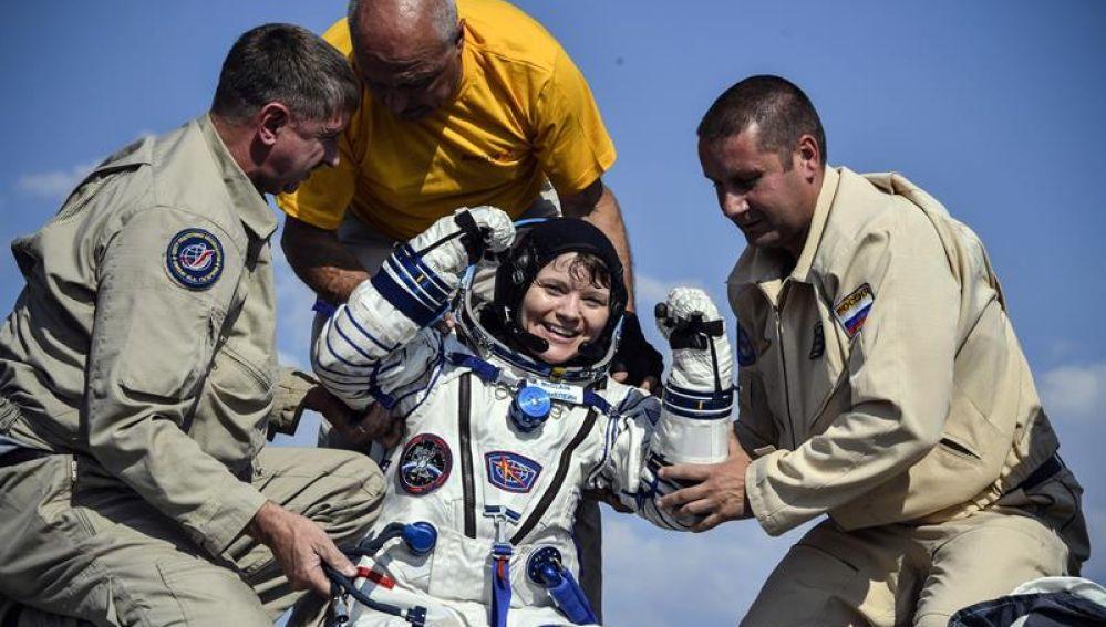 La astronauta Anne McClain