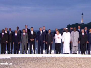 Macron recibe a Sánchez antes de la foto de familia de un G7 tenso con la aparición sorpresa de Irán