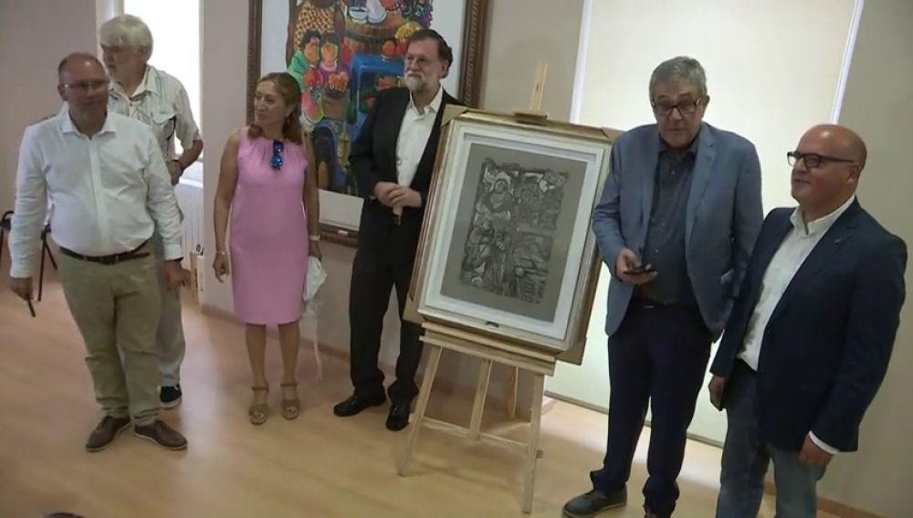 """Rajoy ejerce de pregonero en la Fiesta de la Vendimia de Leiro: """"Viva el vino"""""""