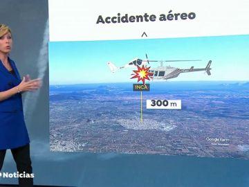 Reconstrucción del accidente aéreo en el que dos aeronaves colisionaron en Mallorca