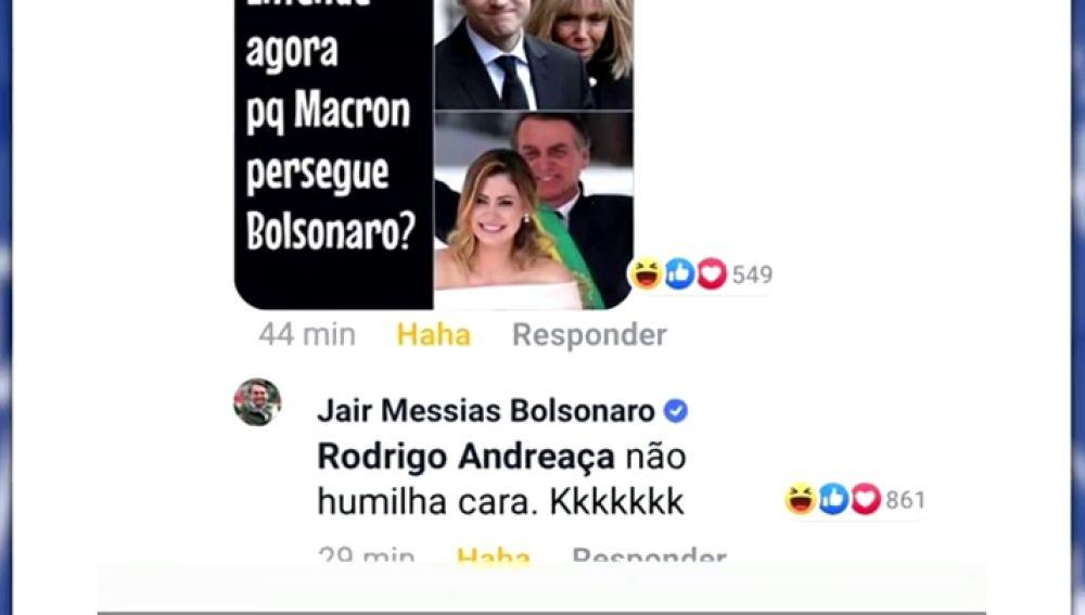 Bolsonaro Se Burla De La Diferencia De Edad De Emmanuel Macron Y Su Mujer Brigitte Macron