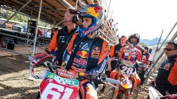 El piloto de MX2, Jorge Prado.