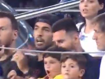 El hijo de Messi festeja el 'no gol'