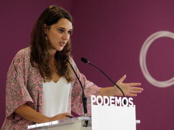 La portavoz de Unidas Podemos, Noelia Vera