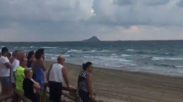 Un avión del Ejército se estrella en Murcia