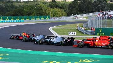 Coches de Fórmula 1 en el GP de Hungría