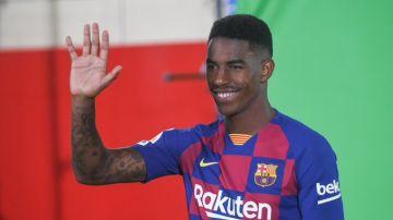 La imagen de Junior Firpo compartida por el Barça
