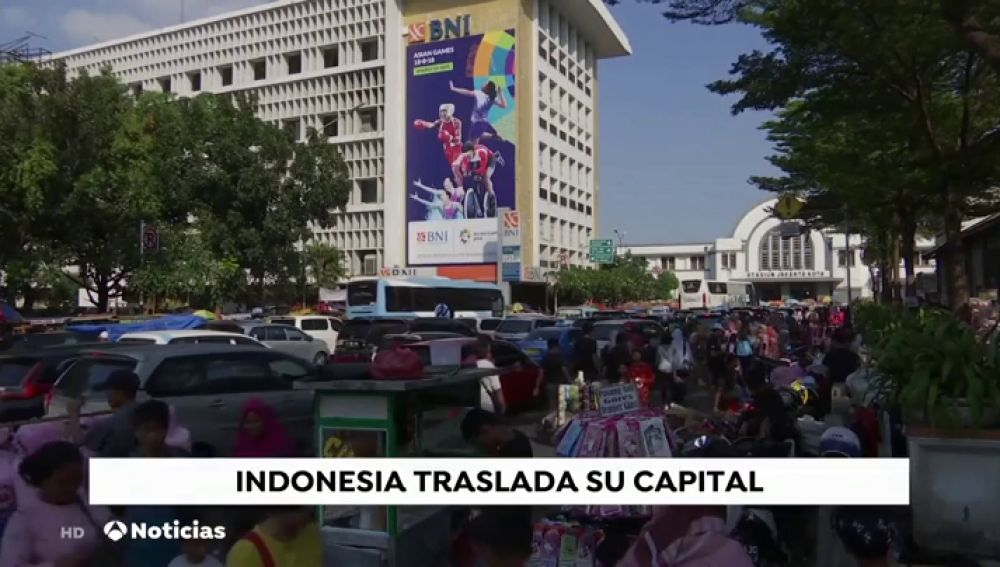 Indonesia trasladará su capital a la isla de Borneo porque Yakarta se hunde