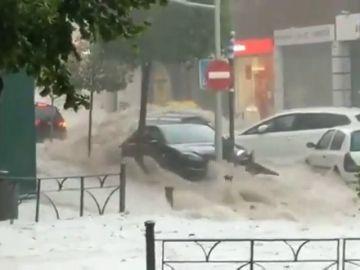 Las imágenes de las fuertes tormentas que han inundado Madrid
