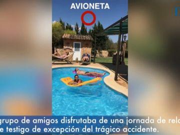 El momento en el que unos vecinos de Mallorca presencian la colisión entre la avioneta y el helicóptero