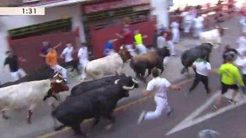 Primer encierro de las fiestas de San Sebastián de los Reyes 2019, en vídeo
