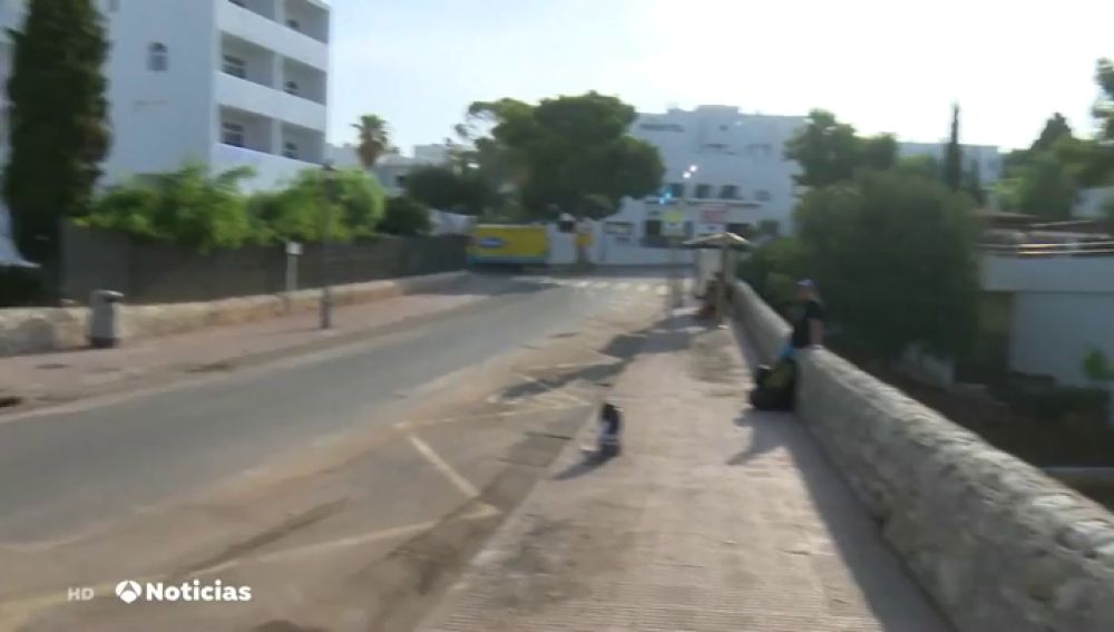 El antes y el después del puente que le salvó la vida a una señora en Mallorca