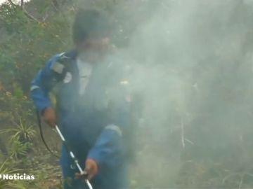 Evo Morales se une a los equipos que luchan contra los incendios de la amazonia boliviana