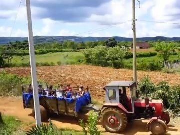 Piscina portátil en Cuba