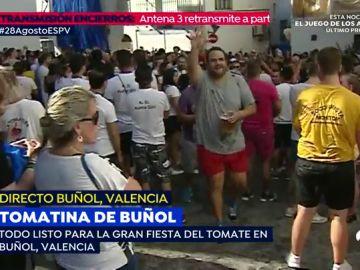 La tomatina de Buñol, en directo en streaming