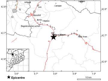 Terremoto Valle de Arán