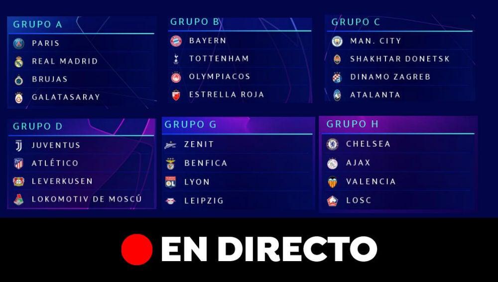 comprar oficial amplia gama último descuento Sorteo Champions League: Rivales del Real Madrid, Barcelona ...