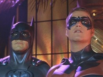 George Clooney y Chris O'Donnell en 'Batman y Robin'