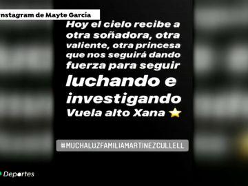 """El conmovedor mensaje de Mayte García, mujer de Cañizares, tras la muerte de la hija de Luis Enrique: """"Hoy el cielo recibe a otra soñadora"""""""