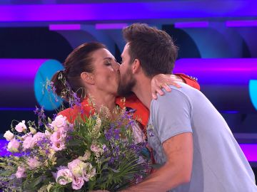La emotiva despedida entre Silvia Abril y Mikel