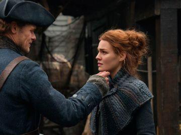 Sam Heughan y Sophie Skelton, Jaime y Brianna en 'Outlander'