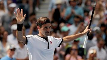 Federer celebra una victoria