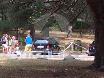 Lugar donde han encontrado el coche de Blanca Fernández Ochoa