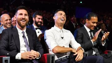 Messi, Cristiano y Van Dijk, en la gala de la UEFA
