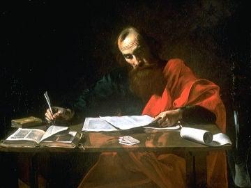 San Pablo escribiendo sus epístolas, por Valentín de Boulogne