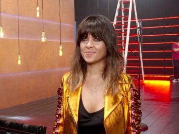 Vanesa Martín se viene arriba durante la grabación de la promo de 'La Voz Kids'