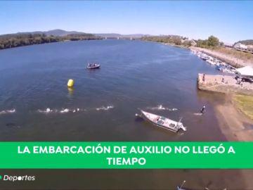 """Continúa la búsqueda del triatleta en el río Miño: """"El chico pidió ayuda pero cuando llegamos ya no estaba"""""""